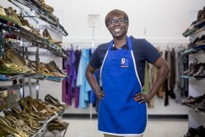Luetisha Logan Working at Goodwill's Smyrna Store