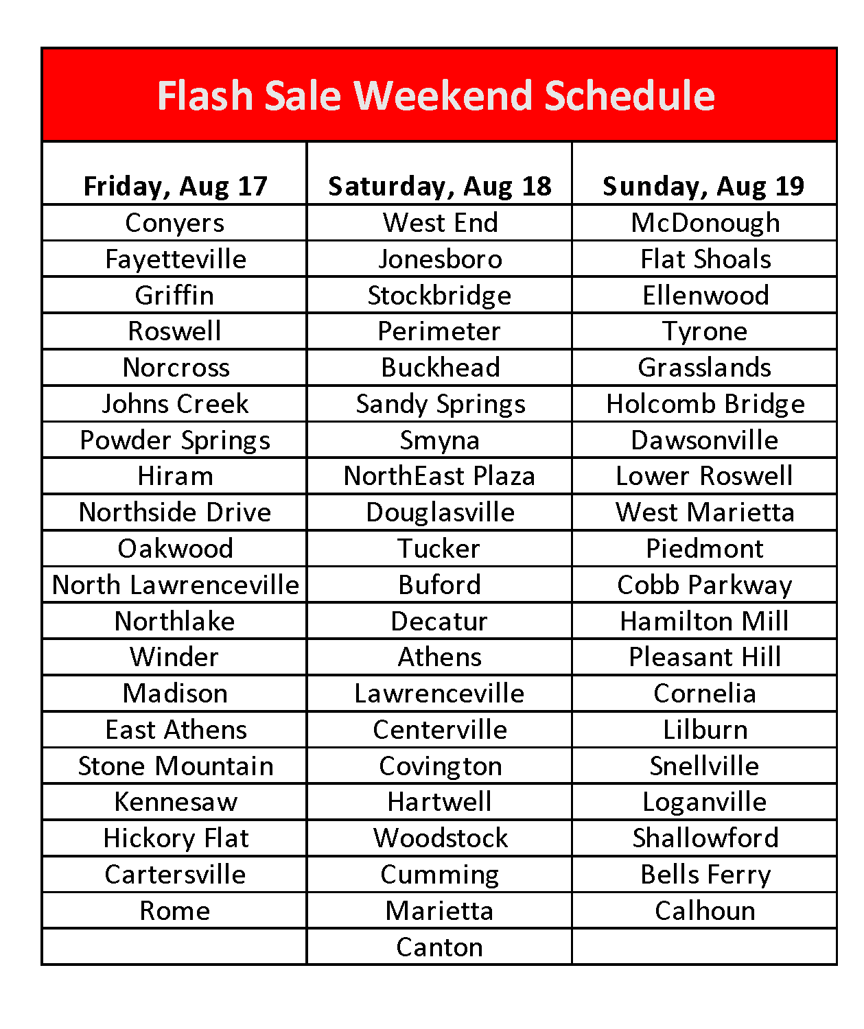 Flash Sale Weekend: August 17-19 | Goodwill of North Georgia