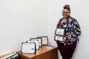 Taneisha Brooks has accumulated many awards since completing Goodwill's GoodBiz program.